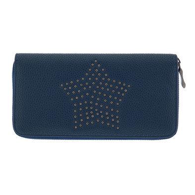 Portemonnee 19*10 cm Blauw | MLPU0149BL | Clayre & Eef
