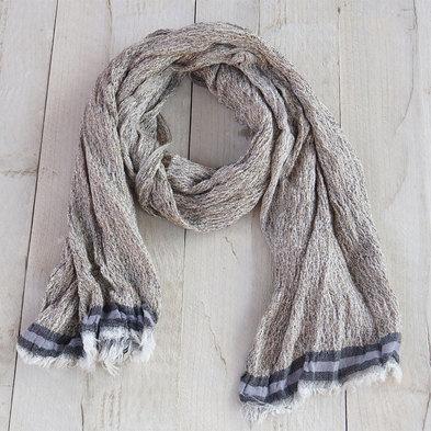Sjaal 70*180 cm Grijs | MLSC0196S | Clayre & Eef