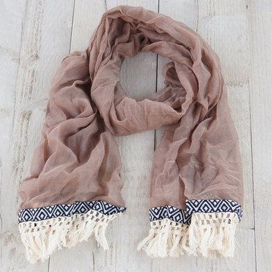 Sjaal 70*180 cm Beige | MLSC0202CF | Clayre & Eef