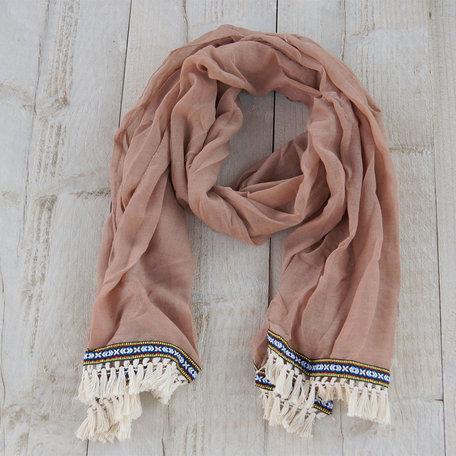 Sjaal 70*180 cm Beige   MLSC0203CF   Clayre & Eef