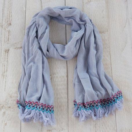 Sjaal 70*180 cm Grijs   MLSC0204S   Clayre & Eef