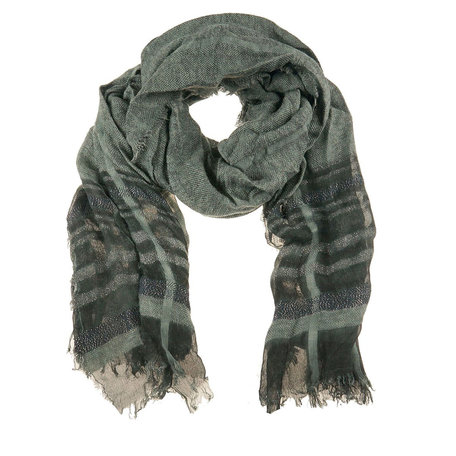 Sjaal 80*180 cm Groen   MLSC0247GR   Clayre & Eef