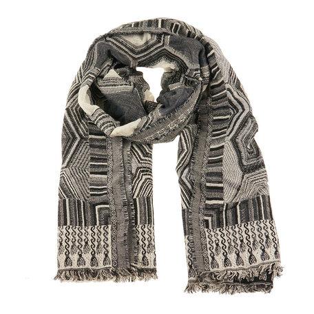 Sjaal 60*190 cm Zwart | MLSC0248D | Clayre & Eef