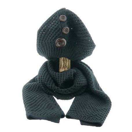 Sjaal/muts 25*70/20*21 cm Zwart | MLSH0001D | Clayre & Eef