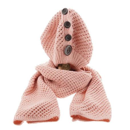 Sjaal/muts 25*70/20*21 cm Roze | MLSH0001P | Clayre & Eef