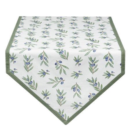 Tafelloper 50*160 cm Groen | OLG65GR | Clayre & Eef