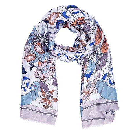 Sjaal 88*180 cm Grijs | JZSC0420G | Clayre & Eef