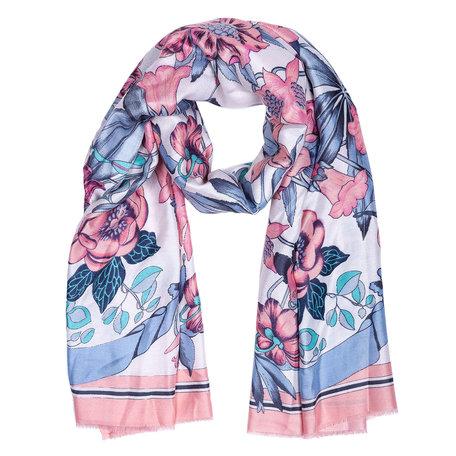Sjaal 88*180 cm Roze | JZSC0420P | Clayre & Eef