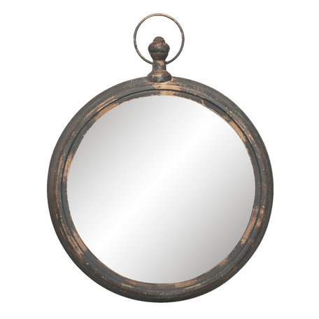 Spiegel 62*6*78 cm Zwart   52S119   Clayre & Eef