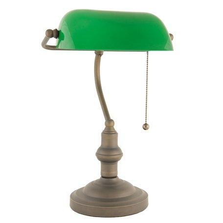 Klassieke Bureaulamp ø 27*40 cm E27/max 1*60W Groen | 5LL-5125 | Clayre & Eef