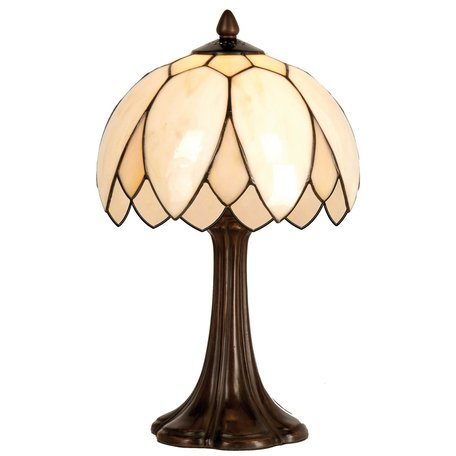 Tafellamp Tiffany ø 25*42 cm E14/max 1*60W Creme   5LL-5135   Clayre & Eef