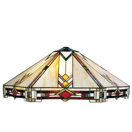 Lampenkap Tiffany ø 58*23 cm Meerkleurig | 5LL-5423 | Clayre & Eef