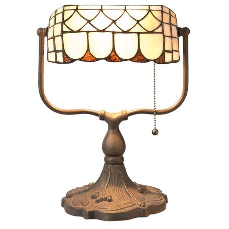 Bureaulamp Tiffany 26*21*37 cm E27/max 1*60W Meerkleurig | 5LL-5729 | Clayre & Eef