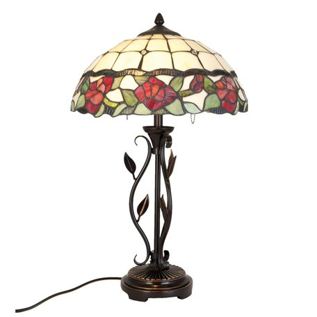 Tafellamp Tiffany ø 35*61 cm E27/max 2*60W Multi | 5LL-5785 | Clayre & Eef