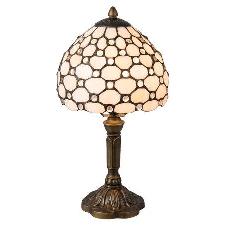 Tafellamp Tiffany ø 20*38 cm E14/max 1*40W Creme | 5LL-5879 | Clayre & Eef