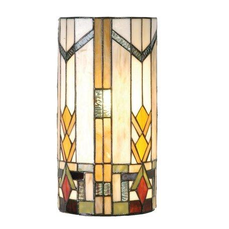 Wandlamp Tiffany 20*11*36 cm E14/max 2*40W Meerkleurig | 5LL-9907 | Clayre & Eef