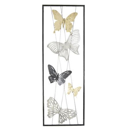 Wanddecoratie vlinders 31*90*3 cm Multi | 5Y0476 | Clayre & Eef