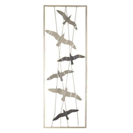 Wanddecoratie vogels 31*90*4 cm Multi | 5Y0478 | Clayre & Eef