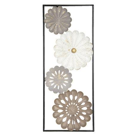 Wanddecoratie bloemen 25*61*3 cm Meerkleurig | 6Y2946 | Clayre & Eef