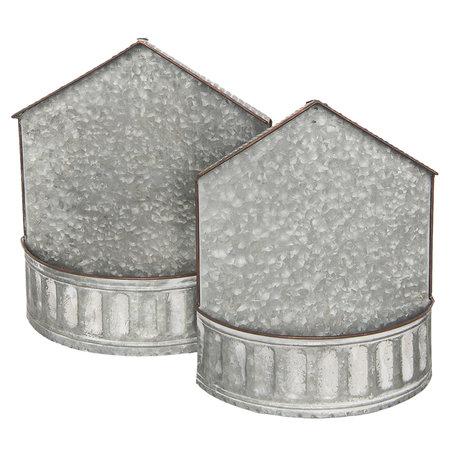 Planthouder (set van 2) 36*15*40 cm (set 2) Grijs | 6Y3232 | Clayre & Eef