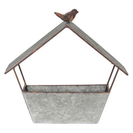 Vogelvoederbak 37*10*35 cm Grijs | 6Y3235 | Clayre & Eef