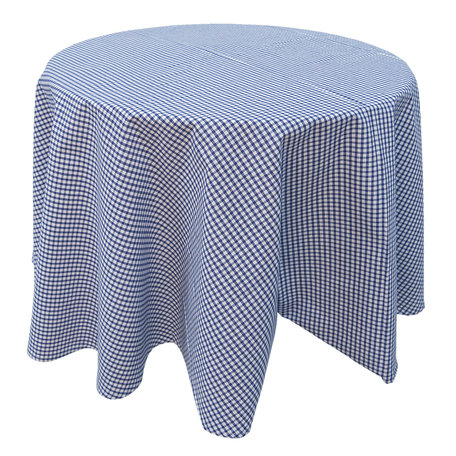Tafelkleed ø 170 cm Blauw   OLG07BL   Clayre & Eef