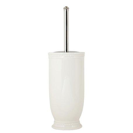 Toiletborstel houder ø 11*24 cm Wit | 60459 | Clayre & Eef