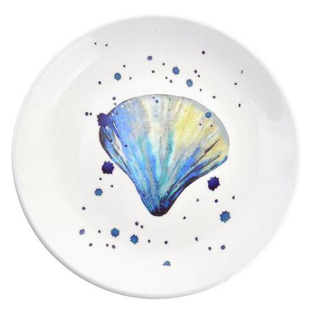Decoratie bord ø 20*2 cm Blauw   6CE0959   Clayre & Eef