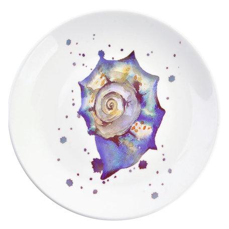 Decoratie bord ø 20*2 cm Blauw | 6CE0960 | Clayre & Eef