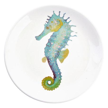 Decoratie bord ø 20*2 cm Blauw | 6CE0962 | Clayre & Eef