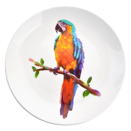 Decoratie bord ø 20*2 cm Meerkleurig | 6CE0964 | Clayre & Eef