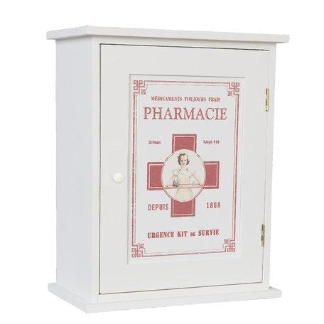Medicijnkastje 24*13*30 cm Wit | 6H0372 | Clayre & Eef