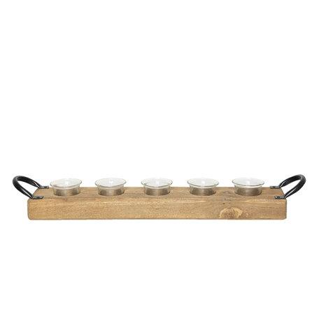 Waxinelichthouder 56*9*9 cm Bruin | 6H1732 | Clayre & Eef