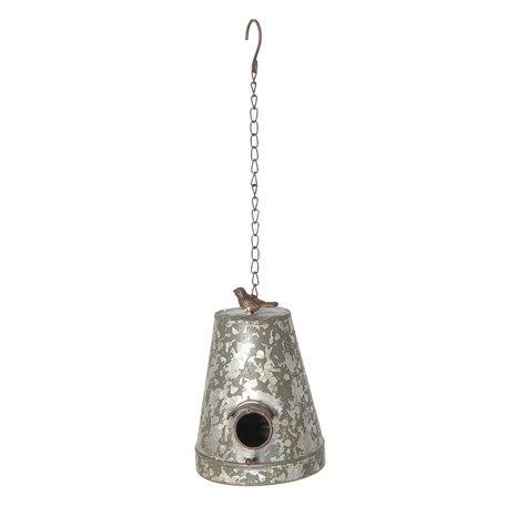Vogelhuis 17*13*20 cm Grijs | 6Y3233 | Clayre & Eef