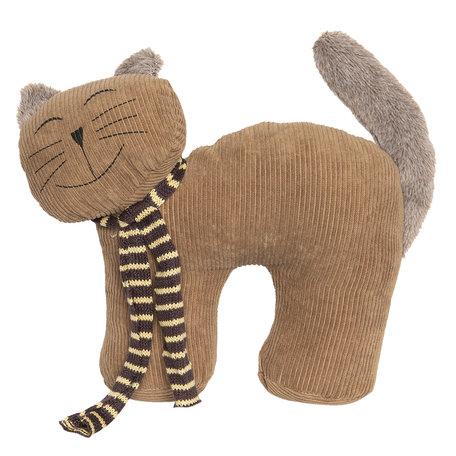 Deurstopper kat 26*9*23 cm Bruin | DT0294 | Clayre & Eef