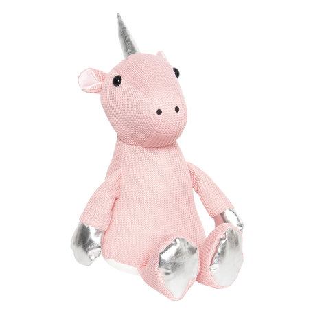 Deurstopper eenhoorn 17*20*32 cm Roze   DT0296   Clayre & Eef