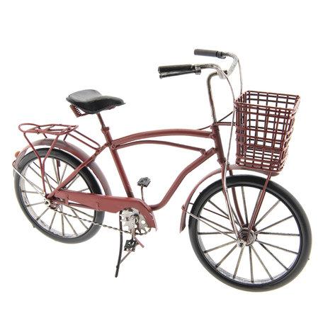 Model fiets 32*12*20 cm Rood   JJFI0002   Clayre & Eef