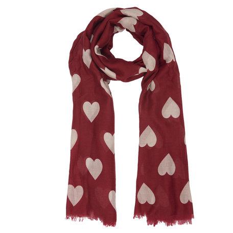 Sjaal 90*180 cm Rood | JZSC0365A | Clayre & Eef