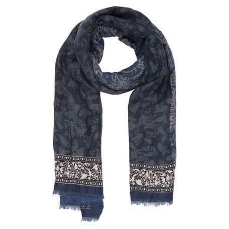 Sjaal 90*180 cm Blauw | JZSC0387BL | Clayre & Eef