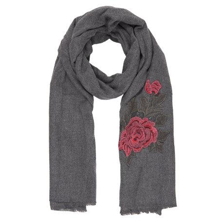 Sjaal 62*195 cm Grijs | JZSC0388G | Clayre & Eef