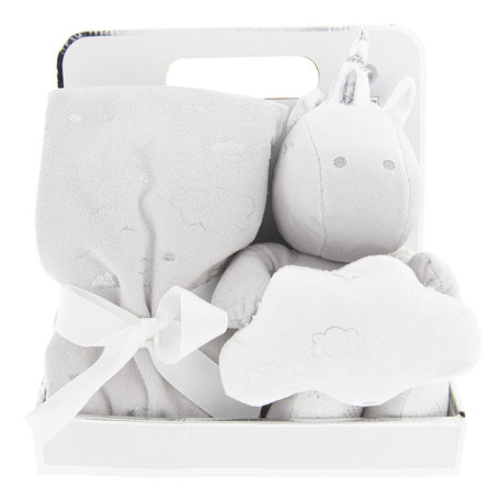 Plaid met knuffel 75*75 / 20 cm Wit | KT060.073 | Clayre & Eef