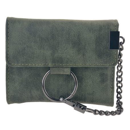 Portemonnee 12*9*5 cm Groen | MLPU0213GR | Clayre & Eef