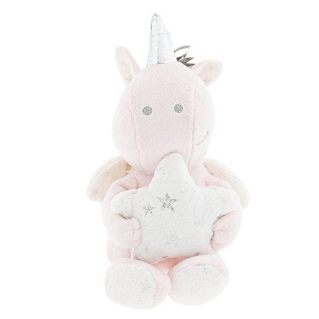 Decoratie knuffel eenhoorn 15*10*15 cm Roze | TW0487 | Clayre & Eef