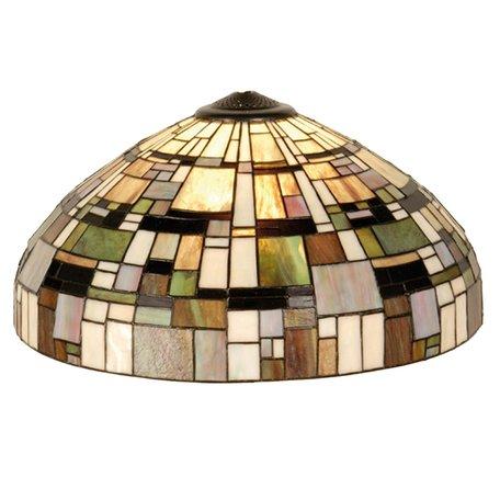 Lampenkap Tiffany ø 50*27 cm Meerkleurig | 5LL-1143 | Clayre & Eef