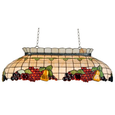 Hanglamp pooltafel Tiffany 94*41*115 cm E27/max 3*60W Meerkleurig | 5LL-5321 | Clayre & Eef