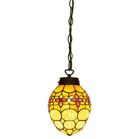 Hanglamp Tiffany ø 24*155 cm E14/max 1*40W Meerkleurig | 5LL-5772 | Clayre & Eef