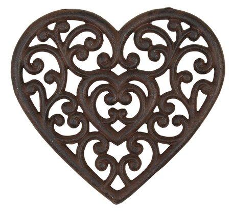 Pannenonderzetter hart 21*20 cm Bruin | 6Y0379 | Clayre & Eef