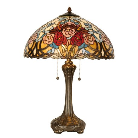 Tafellamp Tiffany ø 46*64 cm E27/max 2*60W Meerkleurig | 5LL-5389 | Clayre & Eef