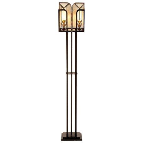Vloerlamp Tiffany 35*28*182 cm E27/max 1*60W Meerkleurig | 5LL-5565 | Clayre & Eef