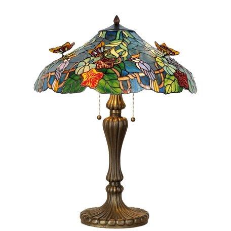Tafellamp Tiffany ø 52*65 cm E27/max 2*60W Multi | 5LL-5582 | Clayre & Eef